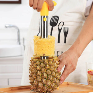 Stainless Steel Pineapple Peeler Cutter Corer - KronoWorld Secure Online Shopping