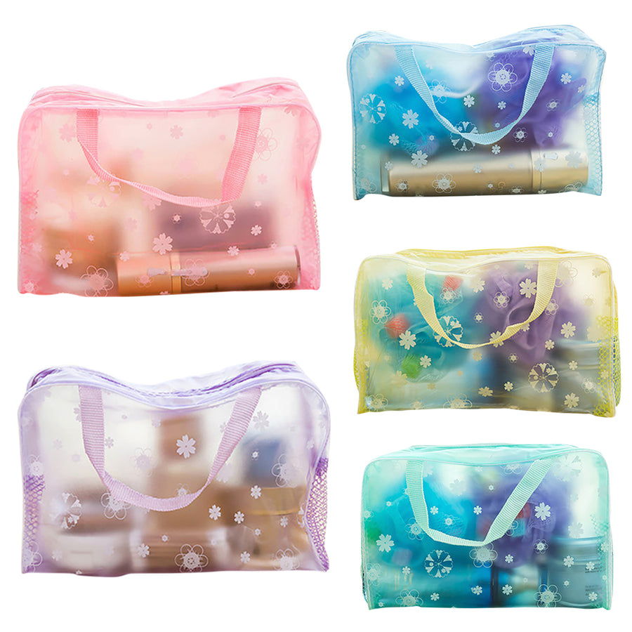 Transparent Travel Zipper, Cosmetic Toiletry Storage Bag - KronoWorld Secure Online Shopping