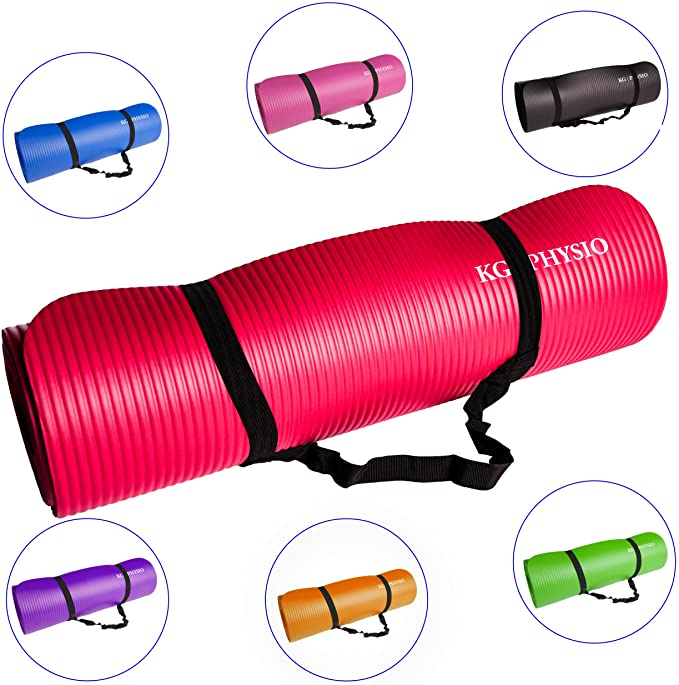 Yoga Exercise Mat with Bonus Strap