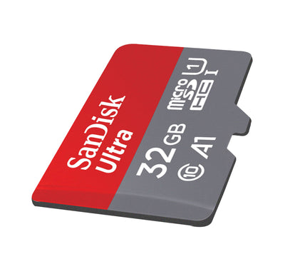 SanDisk Micro SD Card 16gb, 32gb, 64gb, 128gb.