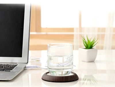 Wood Grain Cup Warmer USB Powered. - KronoWorld Secure Online Shopping