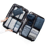 8PCS Set Travel Luggage Organizer Storage Pouches Suitcase Packing Bags - KronoWorld Secure Online Shopping