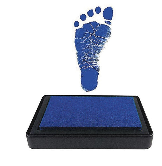 Environmental-friendly. Non-Toxic Baby Handprint/Footprint Imprint Kit. Baby Souvenirs. Casting. Newborn Footprint inkpad. - KronoWorld Secure Online Shopping