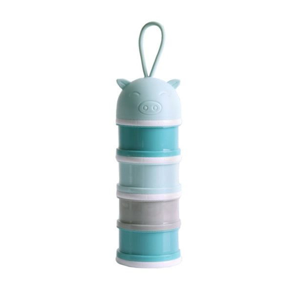 Portable Storage Box For Baby Food, 4 Layers Cute Design - KronoWorld Secure Online Shopping