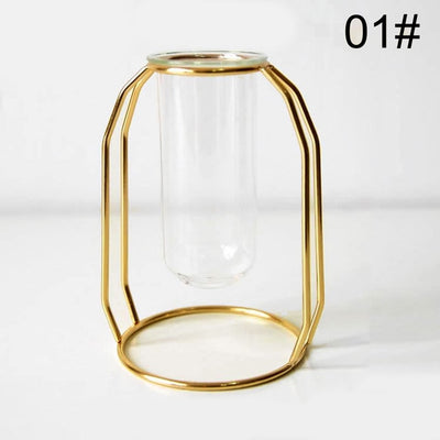 Creative Vase Home Decor, Nordic Style Art, Retro Metal Plant Holder. - KronoWorld Secure Online Shopping