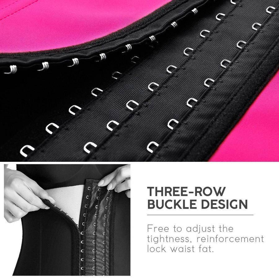 FigureWaist™ Gym Latex Waist Trainer Fuchsia - FigureWaist.com