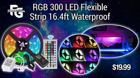 LED 300 Flexible Strip 16.4ft RGB Waterproof