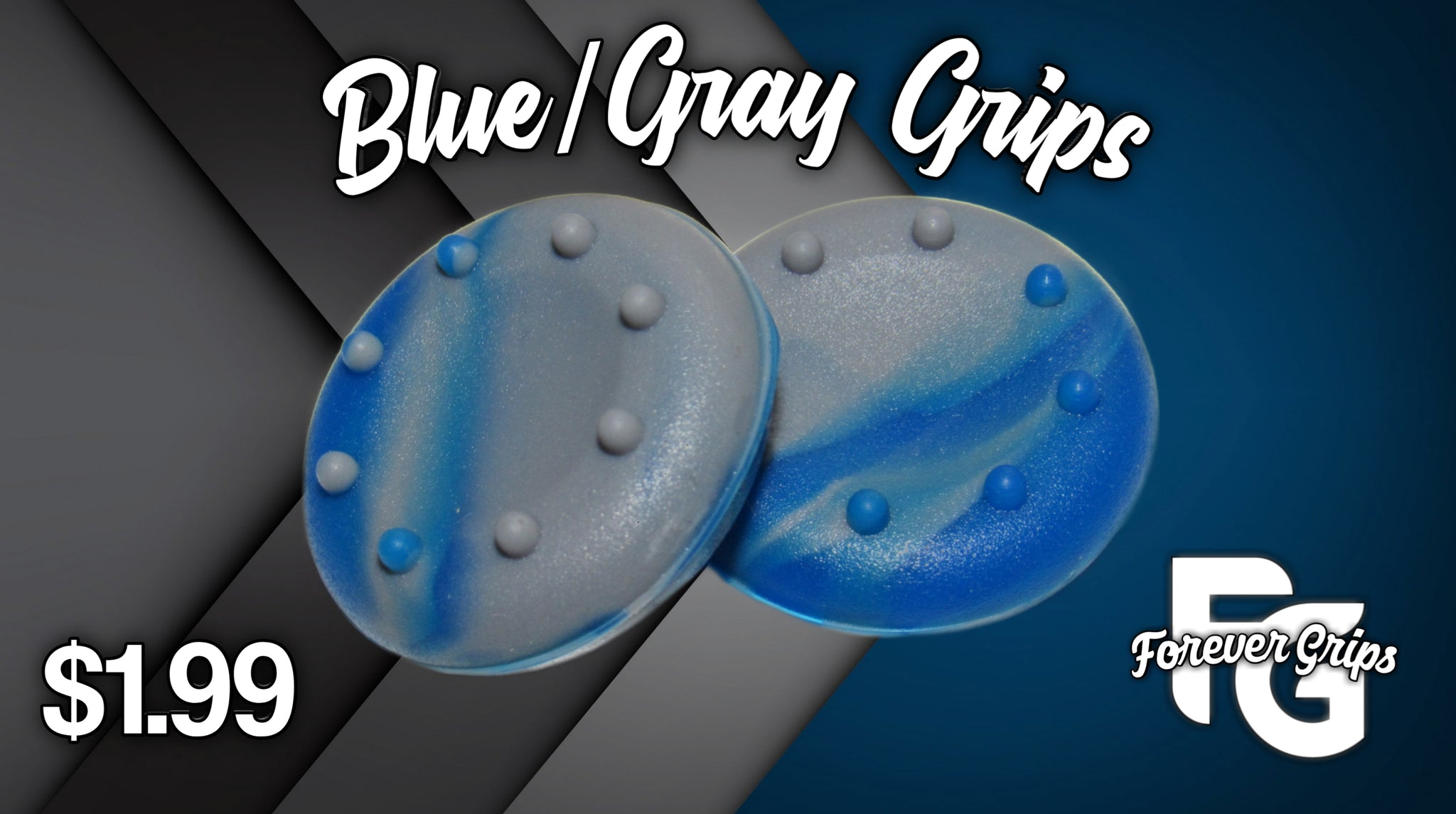 Blue/Gray Grips