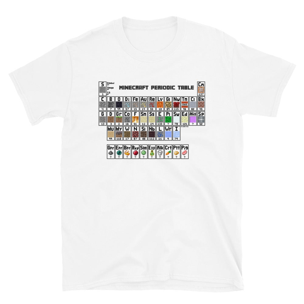 Minecraft Periodic Table T-Shirt (White)