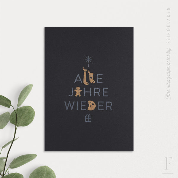 MAGIC WORDS: Alle Jahre wieder / A6 / Black Edition - Feingeladen