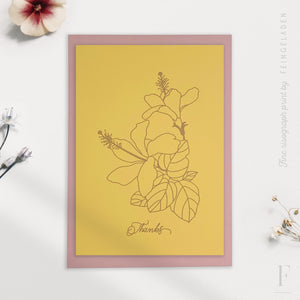 BOTANICA: Hibiscus / Thanks / A6 / Eco Love - Feingeladen