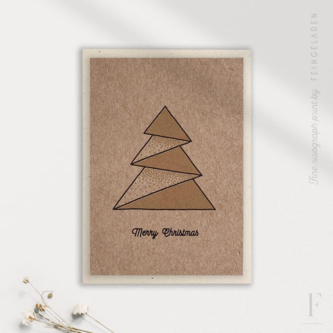 LIKE ORIGAMI: Tree / Merry Christmas / A7 - Feingeladen