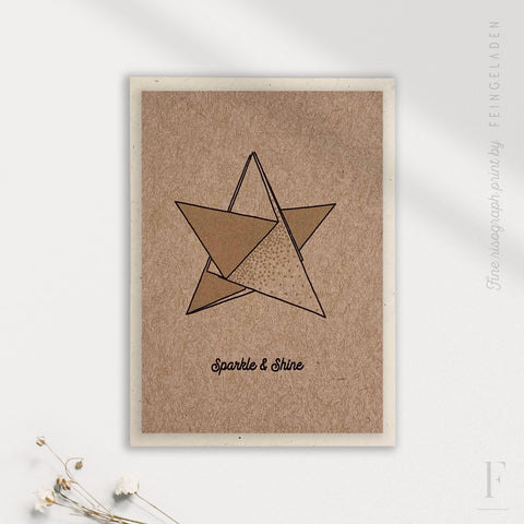 LIKE ORIGAMI: Star / Sparkle & Shine / A7 - Feingeladen