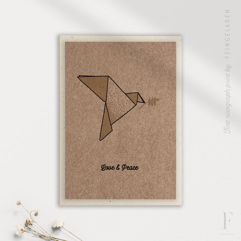 LIKE ORIGAMI: Dove / Love & Peace / A7 - Feingeladen