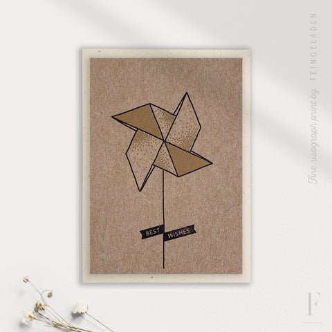 LIKE ORIGAMI: Pinwheel / Best Wishes / A7 - Feingeladen