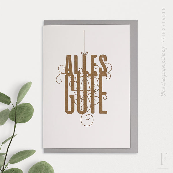 FANCY TYPE: Alles Gute - Feingeladen
