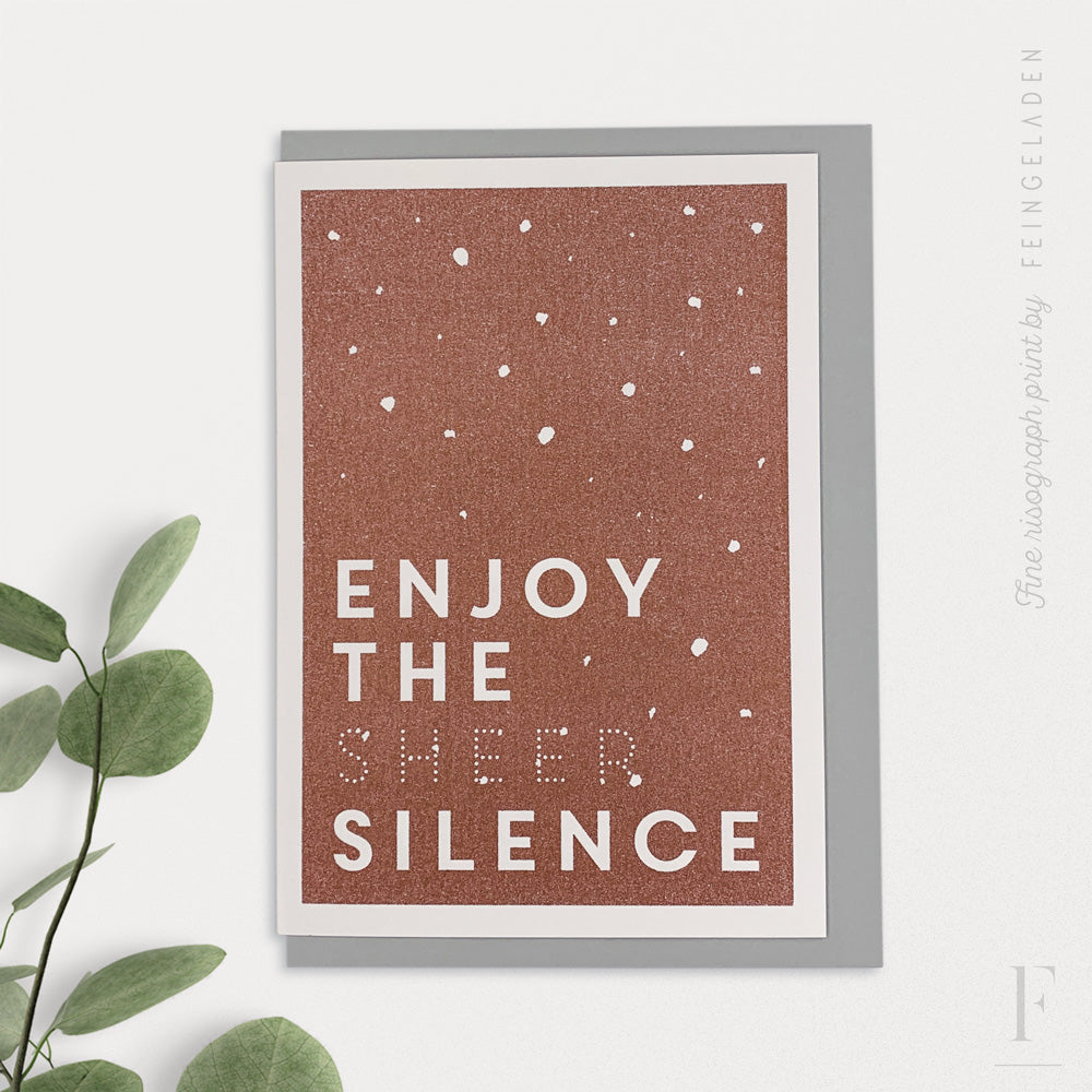 KARAOKE INSPIRED: Enjoy the sheer Silence - Feingeladen