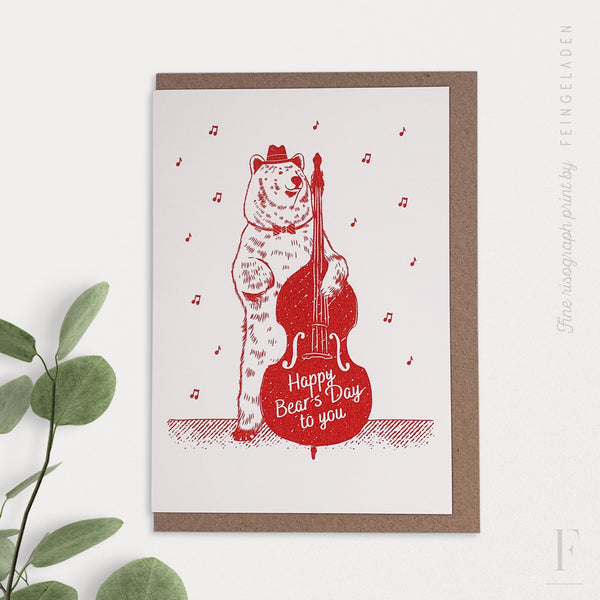 LOVELY BEASTS: Bear / Happy bear's day to you - Feingeladen