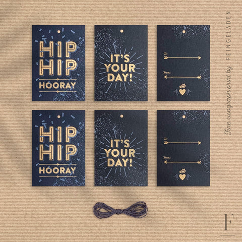 PARTY TIME: Hip Hip Hooray, It's Your Day & To/From - Feingeladen