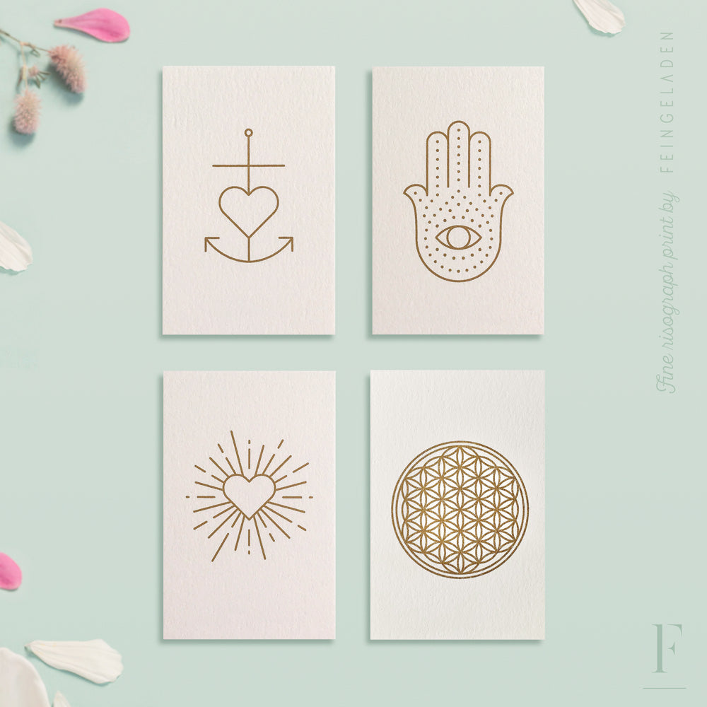 SIMPLY DIVINE: Minimalistic Symbols / Set of 4 / Mini - Feingeladen