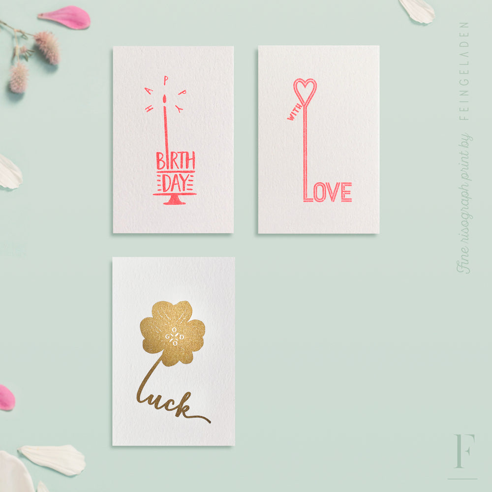 TYPOGRAFICA: Lettertypes / Set of 3 / Mini - Feingeladen