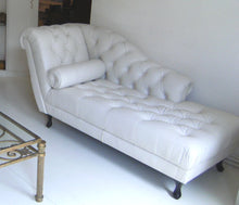 Afbeelding in Gallery-weergave laden, Chesterfield Day-bed DELANO leder Pure White