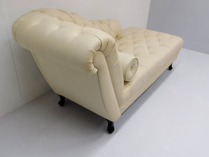 Chesterfield Day-bed DELANO leder Pure White