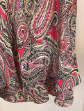 Women's Petite Silk Paisley Multi-Color Layered Skirt Size 10P by Jones New York (02957)