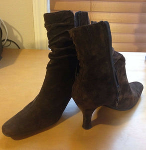 Women's Brown Ankle Boots (SH100)