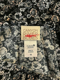 Women's New Black Floral Romper Size 12 by Canyon River Blues (04318)