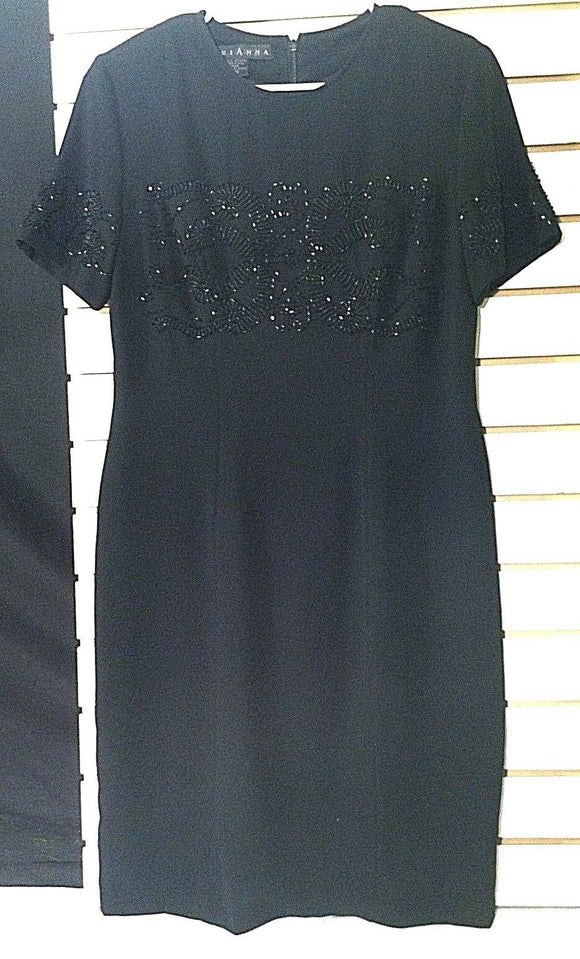 Women's Black Beaded Dress by MariAnna (00726)