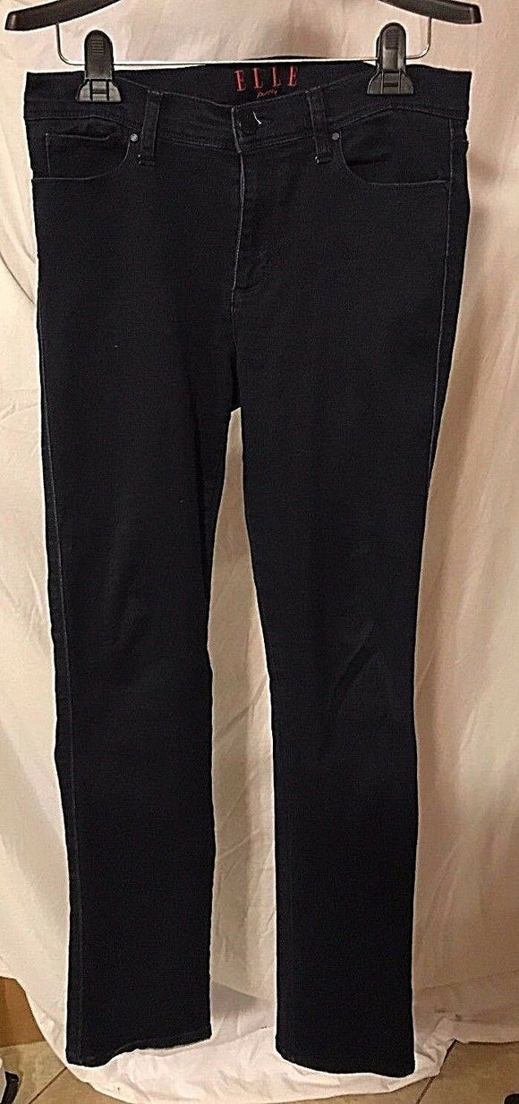 Women's Blue Stretch Soft Casual Pants Size 10 by Elle Parts (02904)