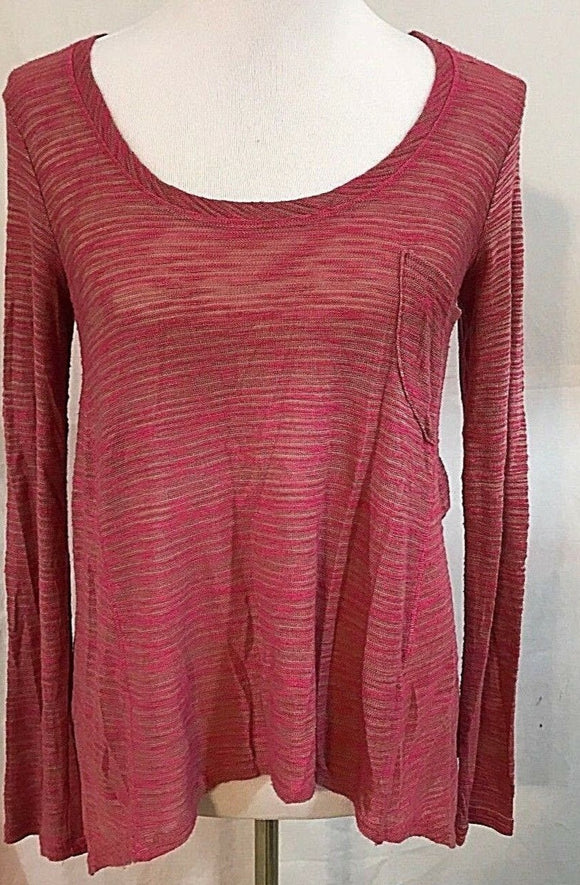Women's Pink & Green Striped Top Size S by Splendid (03382)