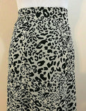 Women's Beige & Black Sheer Animal Print Long Skirt by AGB (04218)