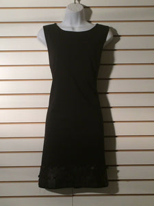 Women's Black Bottom Embellished Dress Size L by Elle (01363)