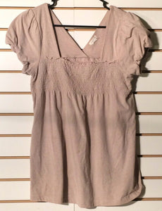 Women's Beige Elastic Top Size L by Maurice (01294)