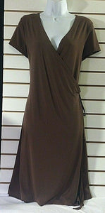 Women's Brown Wrap Dress by Attention (00627)