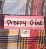 Women's Short Sleeve Red Plaid Dress Size 2 by Preppy Girl (01762)