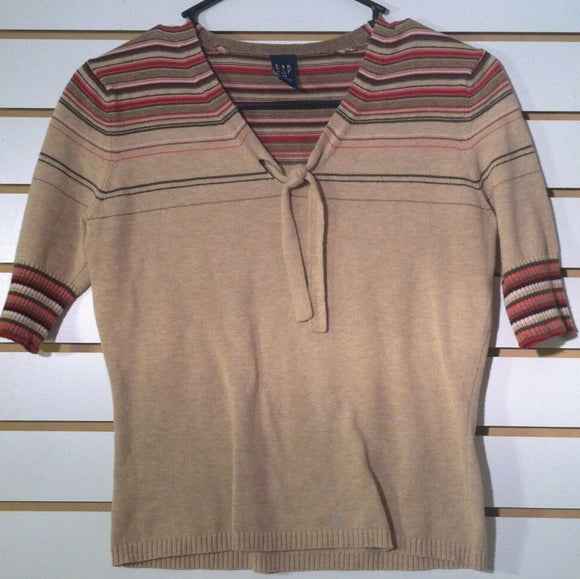 Women's Tan Cotton Pull-Over Sweater Top Size XS by GAP (01057)
