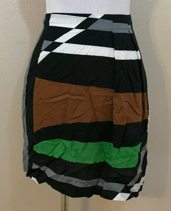 Women's Multicolor Striped Skirt Size M by Derek Lam (04348)