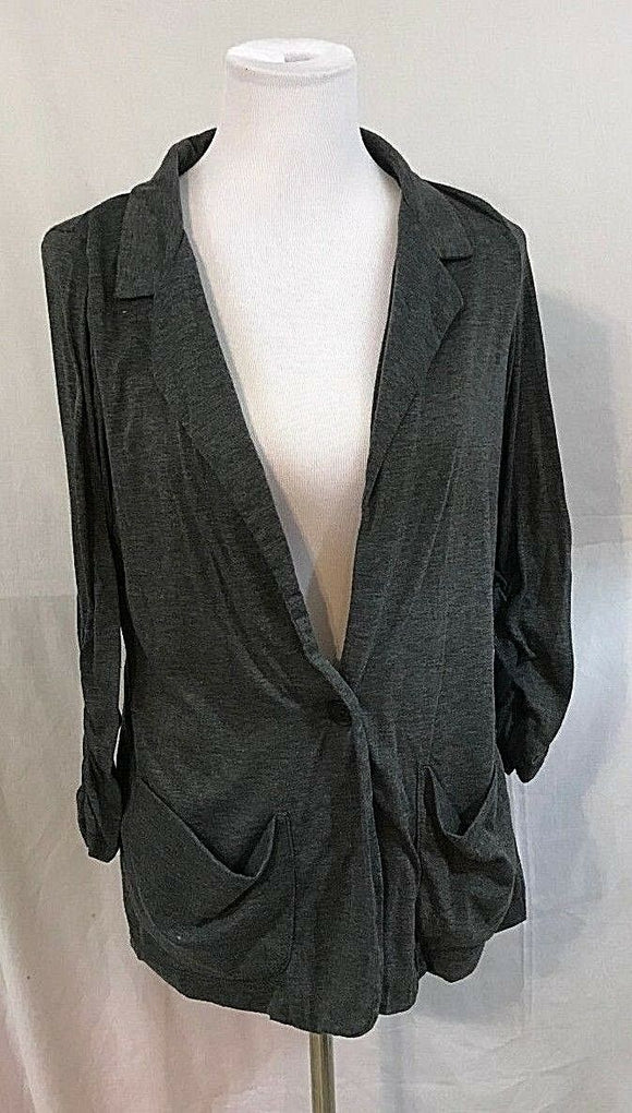 Women's Gray Knit Blazer Size XL by Wet Seal (03265)