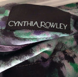 Women's Green Paint Splotch Skirt Size 10 by Cynthia Rowley (01934)