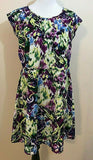 Women's Multicolor Floral Dress Size 10 by AGB Dress (04234)