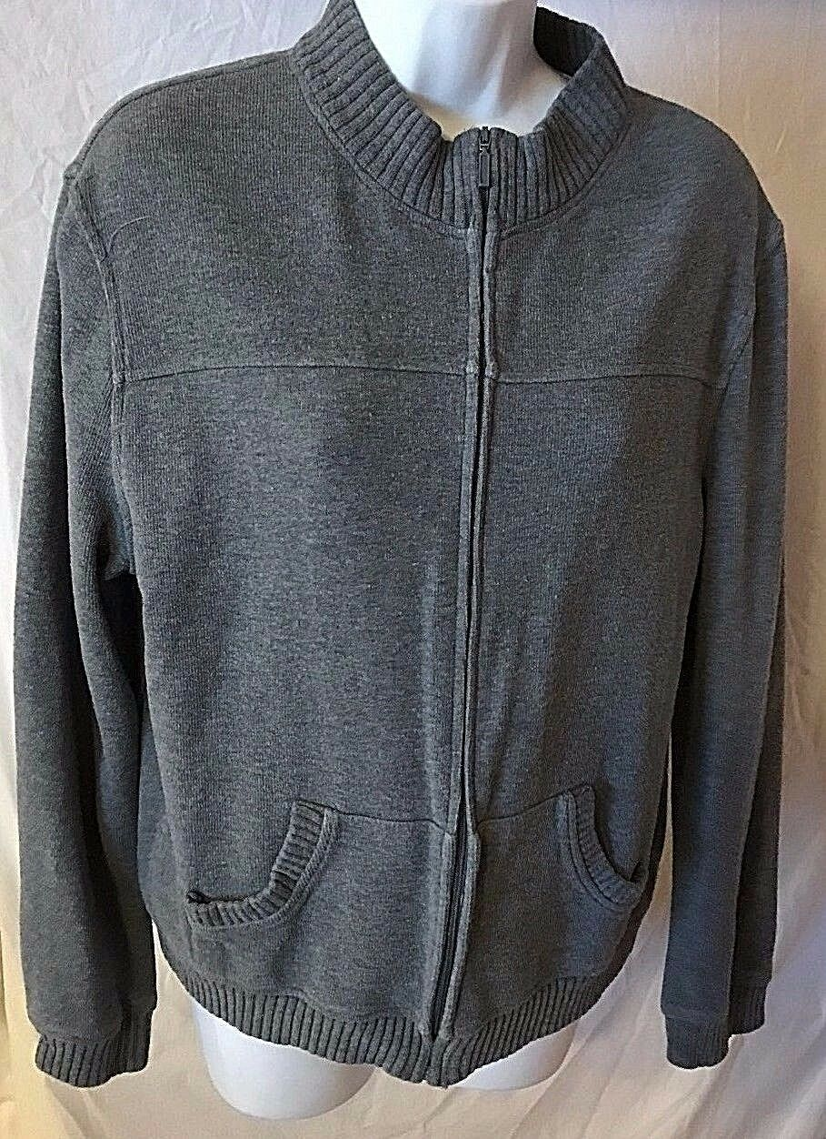 Women's Gray Zipper Front Sweater by Casual Corner Annex (02595)