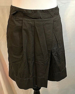 Women's Brown Cotton Pleated Skirt Size 2 by Ann Taylor (03206)