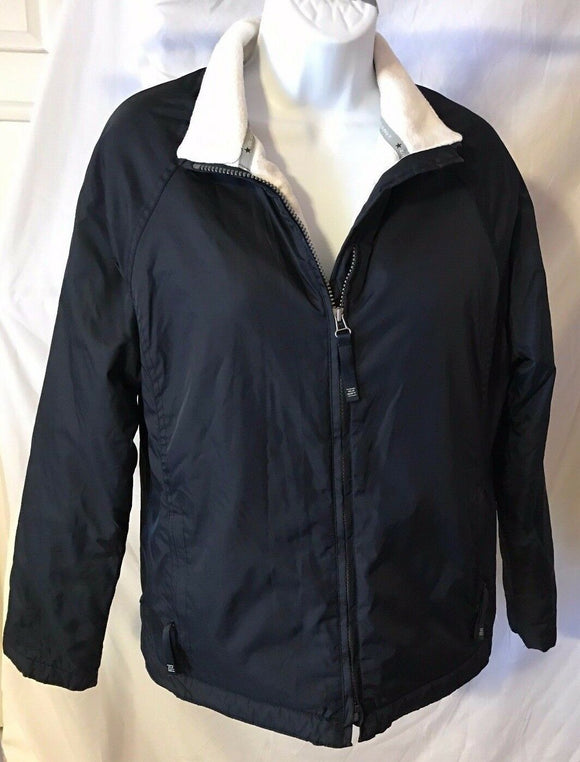 Women's Navy Blue Thick Lined Windbreaker Size M by Old Navy (02708)