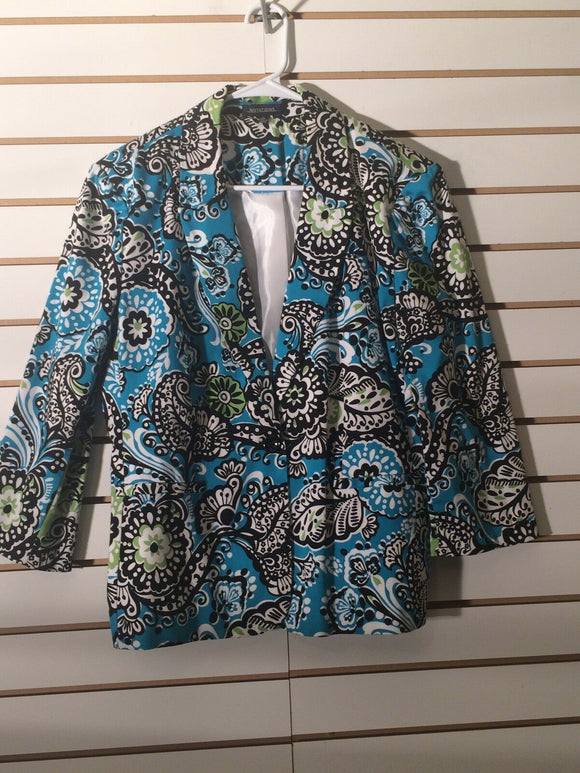 Women's Multi-Color Blazer Size XL by Notations (01716)