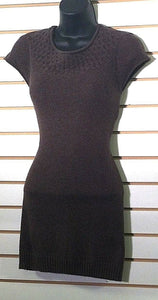 Women's Long Brown Sweater Top Size M by Kaisley (00372)