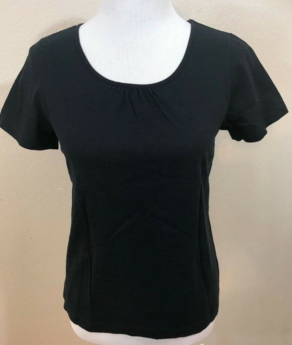 Women's Petite Black Top Size PM by 2 a Tee (03676)