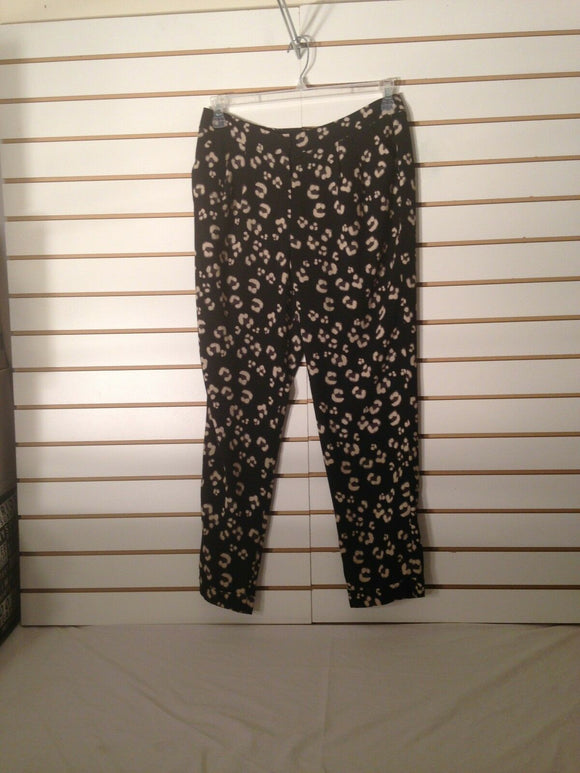 Women's Black & Tan Pants Size 6 by Cynthia Rowley (02031)